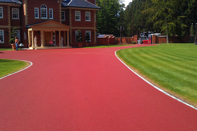 Red Granite Driveway : Driveway driveways block paving patios leeds